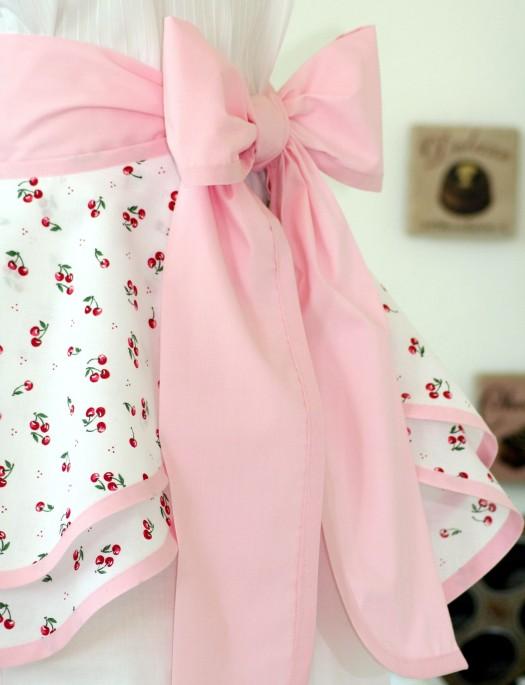 Cherry vintage style apron 2
