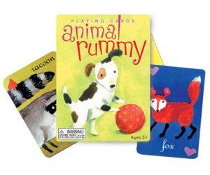 eeBoo Animal Rummy cards