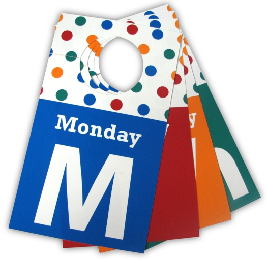 Days of the Week Outfit tags