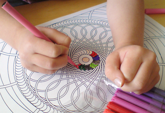 geometric designs for coloring. Patterns for Colouring 1