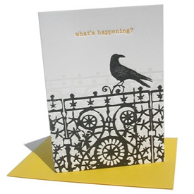 Crow Letterpress Card
