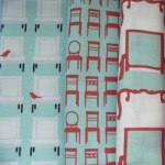Birds on Chairs fat quarters set by ScarletFig