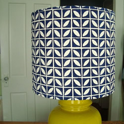 Block Printed Lampshade by Home Sweet