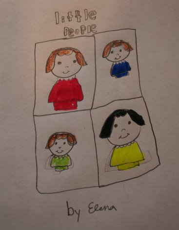 Elena's Little People drawing