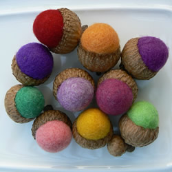 Felted Acorns