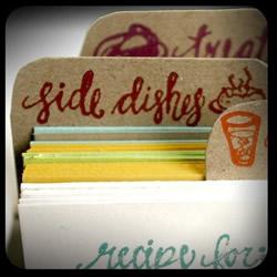 Letterpress Recipe Box by 1canoe2