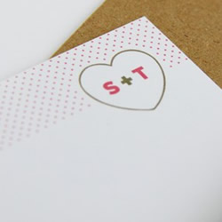 Loveheart set of cards by modernemotive