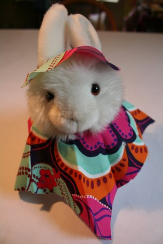 Miss Arctic Rabbit and her poncho
