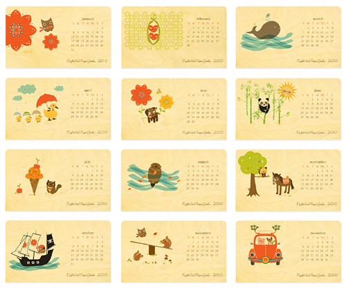 eco friendly and oh so cute. critter calendar by night owl paper goods ...