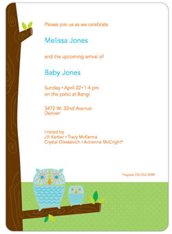 Owl Invite by Letterspace Paper
