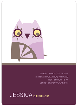 Owl Invite by Paper Culture