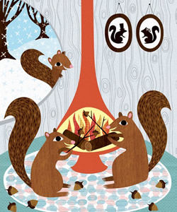 Acorns Roasting on an Open Fire by Lisa DeJohn