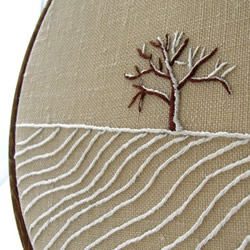 Apple Tree Hand Embroidered wall art by Hare and Drum