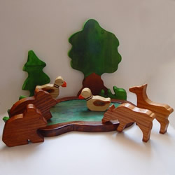 Bear Woodland Set by Smalltown Toys