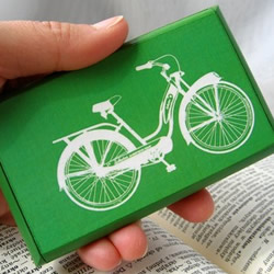 Bike business card holder by HARE and DRUM