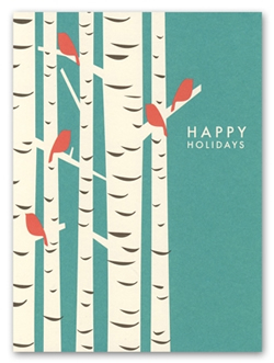 Birch Tree Holiday Cards by Snow and Graham
