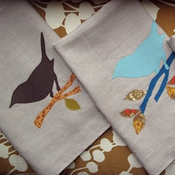 Bird Tea Towels by AnnaJoyce