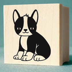 Boston Terrier Rubber Stamp by nikoart