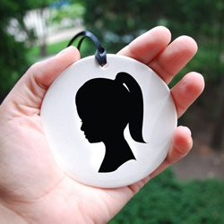 Custom Silhouette Ornament by lepapierstudio