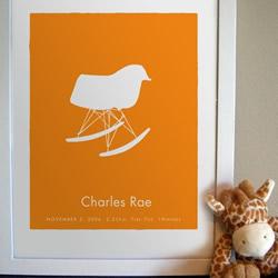 Eames Rocker Custom Baby Print by PrettyMod