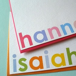 Hannah Flat Notecards by PeonyPaperie