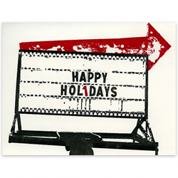 Happy Holidays Sign by A Favorite