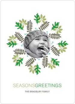 Mistletoe Wreath Greetings by Paper Culture