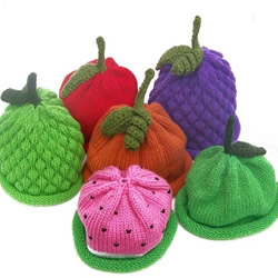 Mix n Match Fruit Hats by KnitrGal