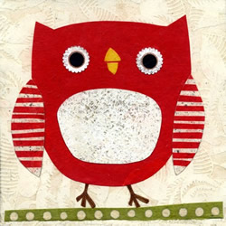 Owl Stroll print by Kate Endle
