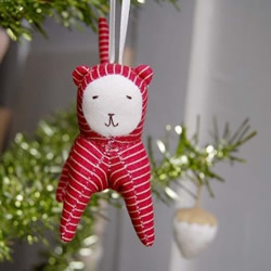 Red Striped Ornament by FernAnimals