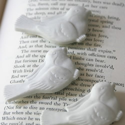 Snow Bird Ceramic Magnet Set by SweetTidings