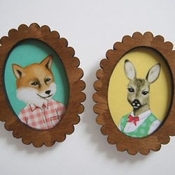 Wooden Picture Frame Brooch by enna