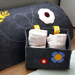 Wooli Felt Garden Diaper Caddy by BabysBreath