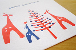 Xmas Giraffes by Dee and LaLa