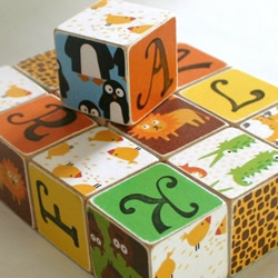 Zoo Block set by Tiny Giraffe Shop