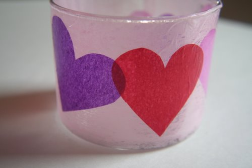 Crafty monday valentine s day votive for Cardboard candle holders