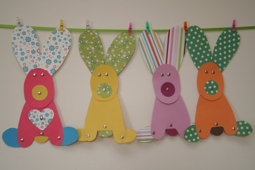 Paper Easter Bunnies by Charlotte's Fancy