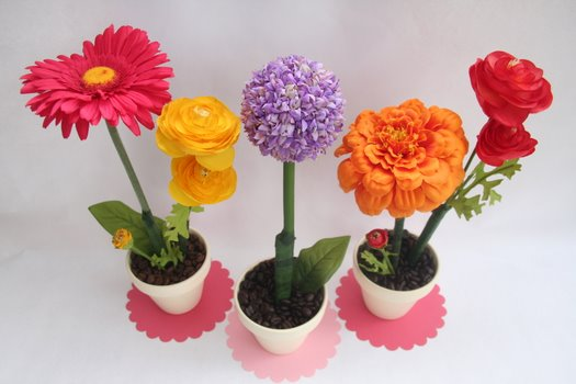 Flower pens for mothers day lesson plans next plan idea homemade flower rings mightylinksfo