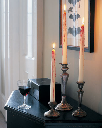 Creepy Halloween Candles by Martha Stewart