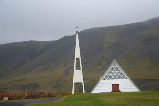 rural church in Iceland