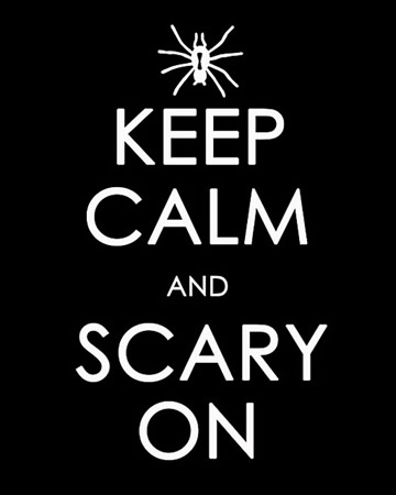 Keep Calm and Scary On printable poster by Craftily Ever After