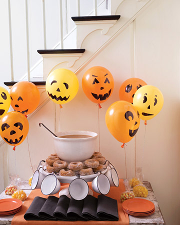 Pumpkin Balloons and Table by Martha Stewart