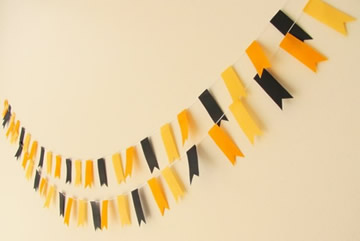 Halloween Black and Orange Tape Garland by Paper Klip Design