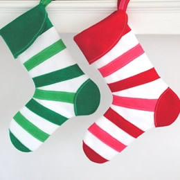 Candy Cane Stockings by Miss Mosh