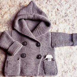 Hand knit duffel coat by Pilland