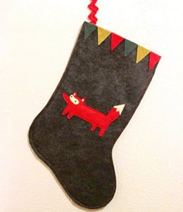 Liam the Woodland Fox stocking by Sleepy King