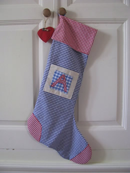 Personalized Christmas Stocking by Elissa Hill