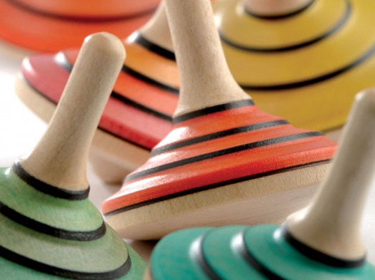 Tango spinning tops by Mader
