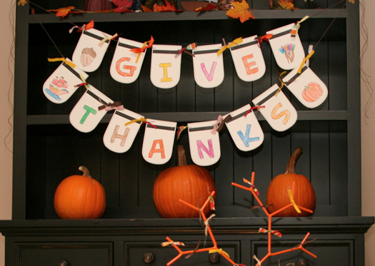 Thanksgiving Banner by Super Mom Moments