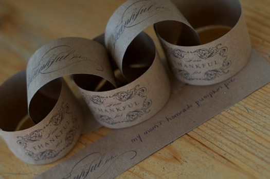 Thanksgiving Thankful Paper Chain by Silverbox Design